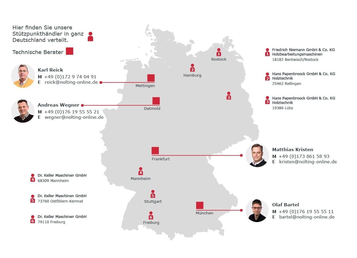 Deutschlandkarte_Vertrieb & Beratung Nolting Holzfeuerungstechnik GmbH
