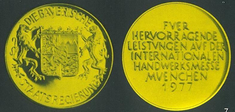 Medaille 1977 Handwerksmesse Nolting Holzfeuerungstechnik GmbH