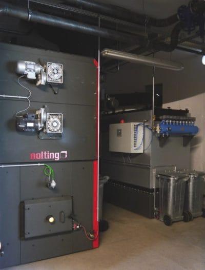 Erich Schillinger die Unterschubfeuerung Typ LCS-RU 520/600 mit 600 kW Kesselleistung