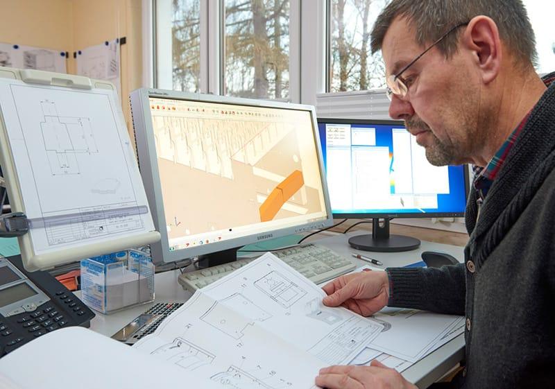 Produktionsplanung einer Nolting Holzfeuerungsanlage